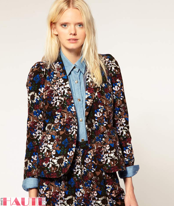 United Bamboo Blazer in Flower Print - Fashion on What's Haute