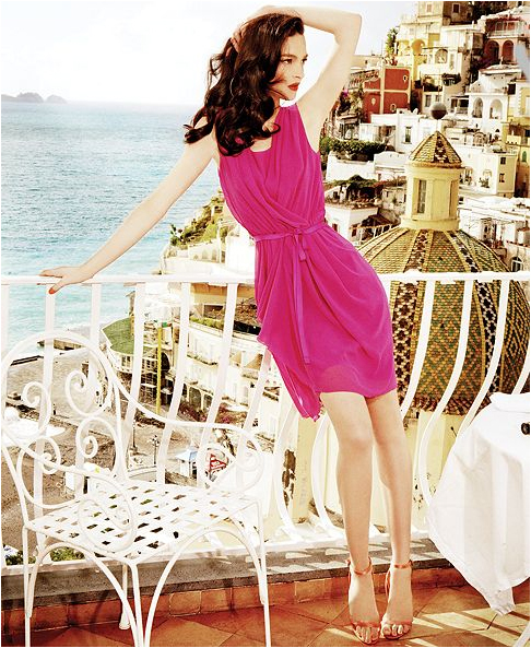 Alberta Ferretti for Impulse at Macy's pink dress