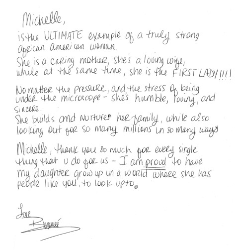 Beyonce writes open letter to Michelle Obama
