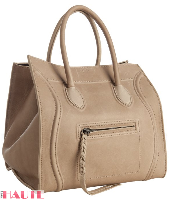 Celine taupe leather 'Luggage Phantom' square tote