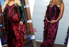 Who rocked it hotter: Jessica Simpson vs. Kim Zolciak in a Roberto Cavalli Draped floral-print silk-chiffon gown