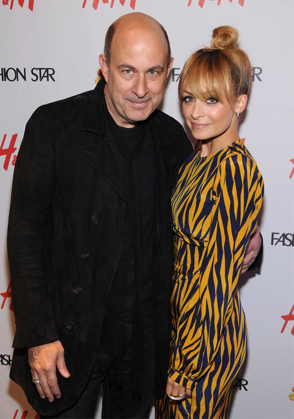 John Varvatos and Nicole Richie at H&M Fashion Star party
