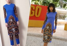 'Scandal' star Kerry Washington in Stella McCartney Pre-Fall 2012 at the Django Unchained photo call