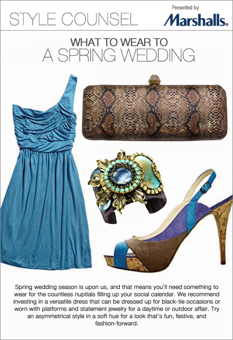 Marshalls StyleCounsel - What to Wear to a Spring Wedding