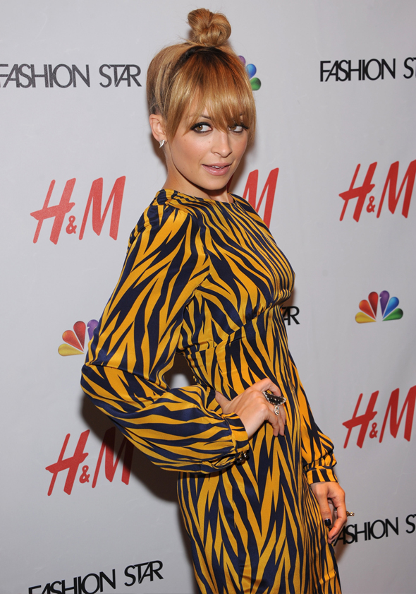 Nicole Richie at H&M Fashion Star party