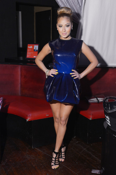 Adrienne Bailon at the OK Magazine Sexy Singles Party at Amnesia on May 21, 2012 in New York City