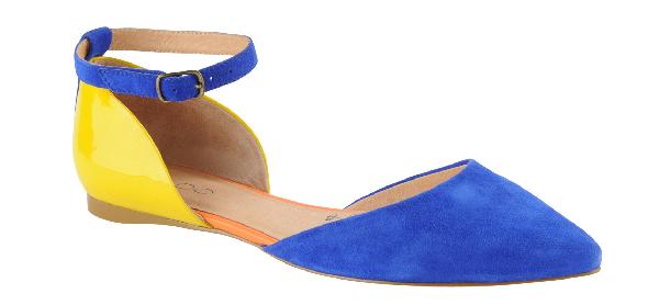 Haute buy: Aldo Leggat colorblock flats in medium blue