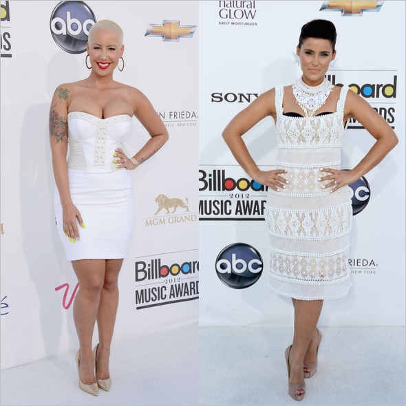 Amber Rose and Nelly Furtado at the 2012 Billboard Music Awards