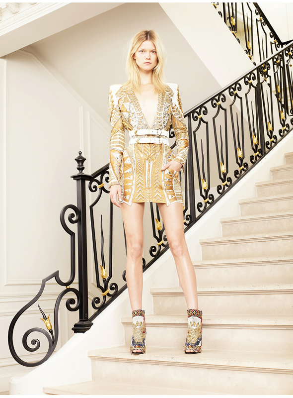 Balmain Resort 2012 print dress