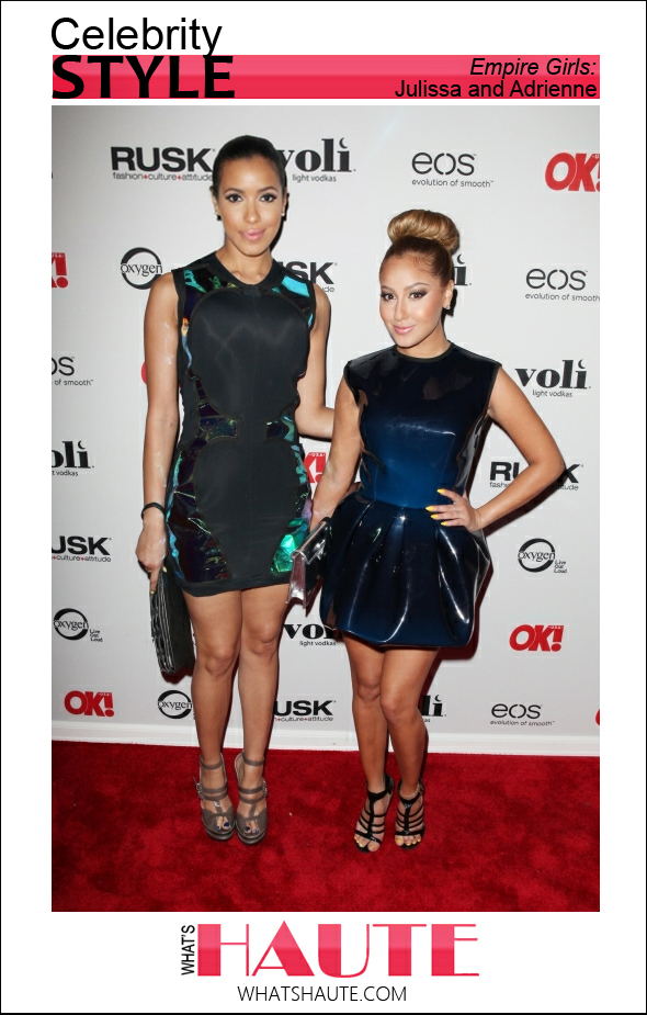 Celebrity style - Julissa Bermudez and Adrienne Bailon at the OK Magazine Sexy Singles Party at Amnesia on May 21, 2012 in New York City