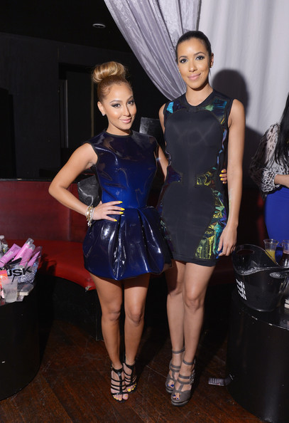 Julissa Bermudez and Adrienne Bailon at the OK Magazine Sexy Singles Party at Amnesia on May 21, 2012 in New York City