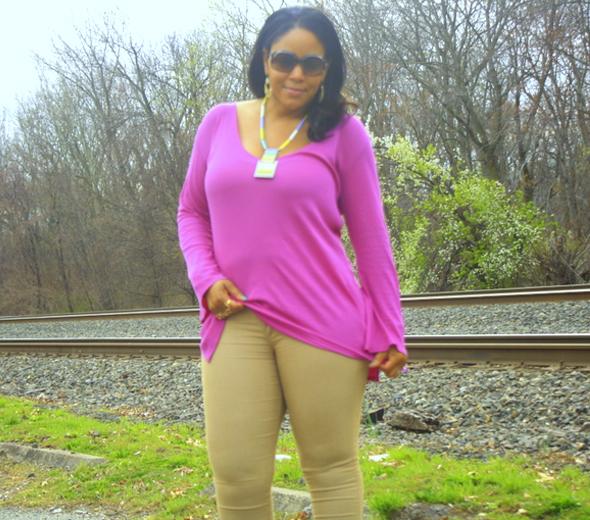 skin Ribbed Tunic in 'Violette'
