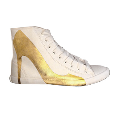 Be&D Bright Lights Big City Sneakers - Hand Gilded Artist Edition By Trong Nguyen
