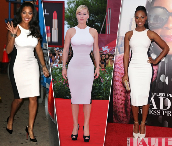 Lala Anthony, Kate Winslet & Tika Sumpter in Stella McCartney Fall 2011 Contoured Colorblock Sheath Dress