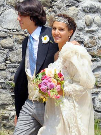 Margherita Missoni wears Giambattista Valli to her wedding