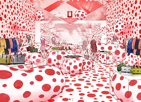 Louis Vuitton x Yayoi Kusama pop-up shop