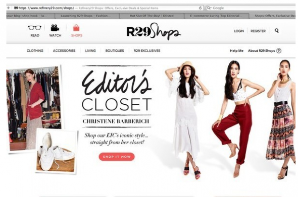 Refinery 29 offers online shopping