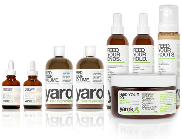 Yarok Haircare Feed Your Hair products - shampoo, conditioner, shine serum, mousse, scalp serum