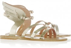 Haute buy: Ancient Greek Sandals Ikaria Metallic Leather Wing Sandals