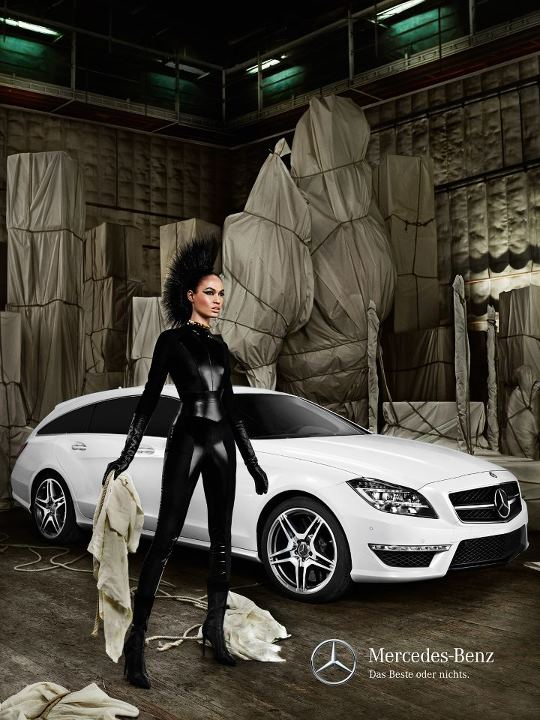 Joan Smalls for Mercedes Benz shot by Mario Testino