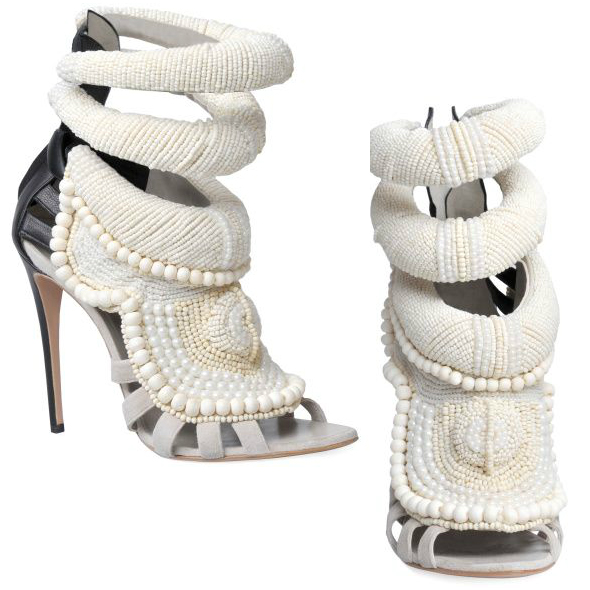 Kanye West by Giuseppe Zanotti 115MM Kanye All Over Beads Sandals