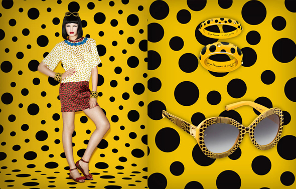 Louis Vuitton Yayoi Kusama dot inspired collection