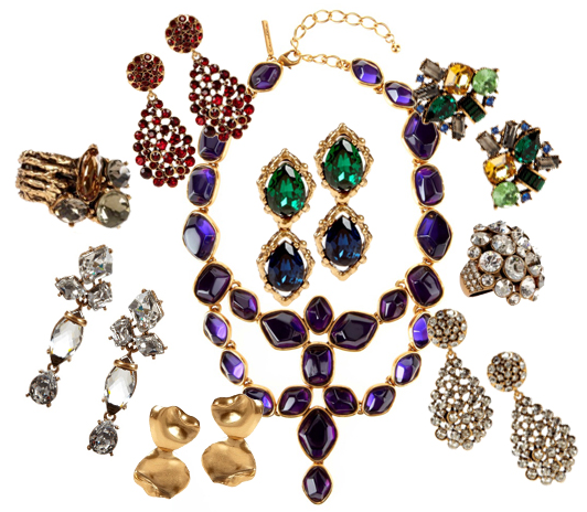Oscar de la Renta jewelry at Rent the Runway