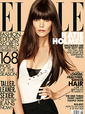 Katie Holmes covers the August 2012 issue of Elle