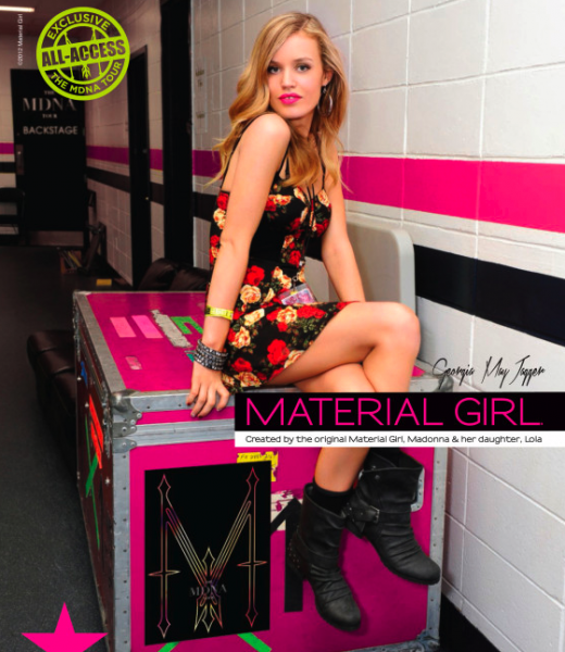 Georgia May Dagger as the new face of Material Girl