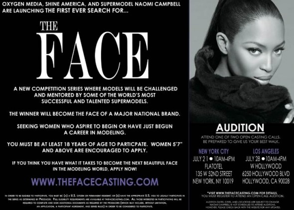 Naomi Campbell hosts new model competition series, The Face