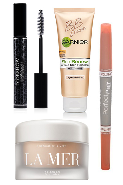 Summer beauty products - Wet 'n' Wild Perfect Pair Lip Wand, Dior Diorshow Black Out Waterproof Mascara, La Mer The Powder in Translucent, Garnier Skin Renew Miracle Skin Perfector B.B. Cream