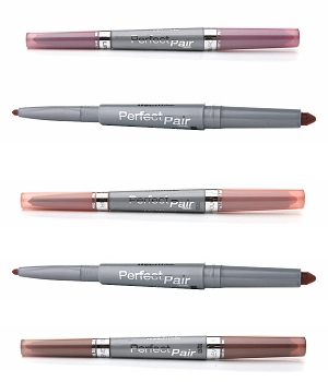 Wet n Wild Perfect Pair Lip Wands-Nearly Nude 121, Brandy Wine 122A, Sensual Peach 122, Passion Plum 123, Hanky-Pinky 120