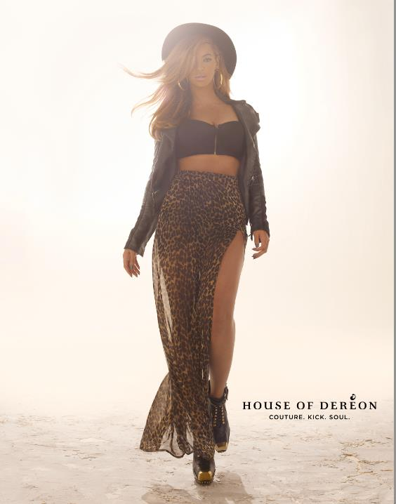 Beyonce in House of Deréon Fall 2012 campaign - Look 1