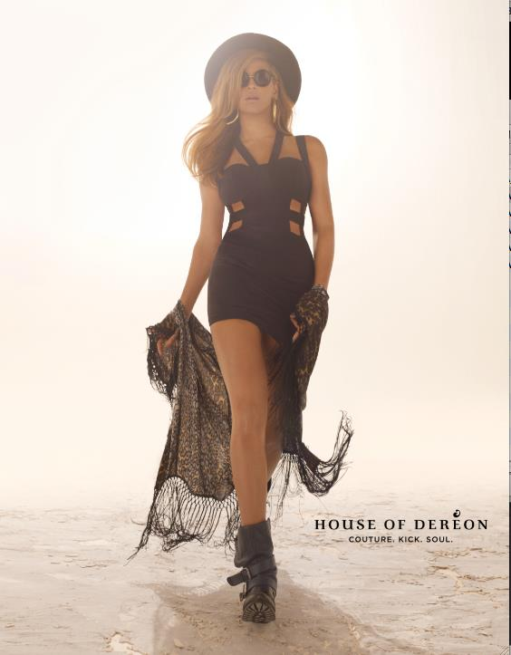 Beyonce in House of Deréon Fall 2012 campaign - Look 2