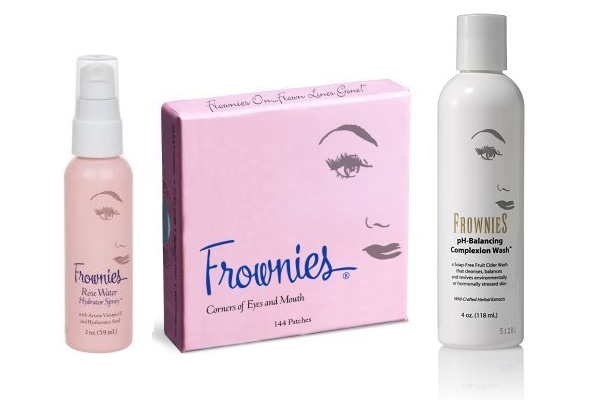 Frownies Corner of Eyes & Mouth Rose Water Combo - Pink & pH Balancing Complexion Wash