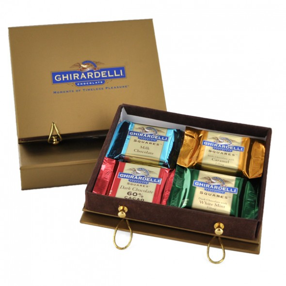 Ghirardelli SQUARES chocolate-filled gift box