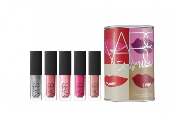 NARS x Andy Warhol makeup collection - Lips / Kiss products and packaging