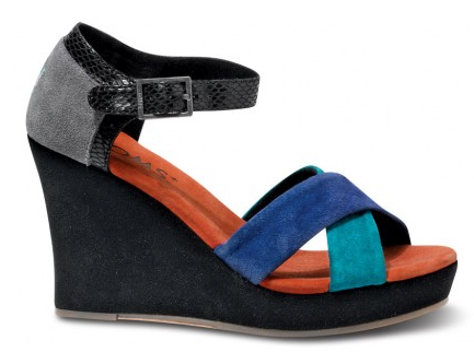 TOMS+ Cobalt Montage Women's Strappy Wedges