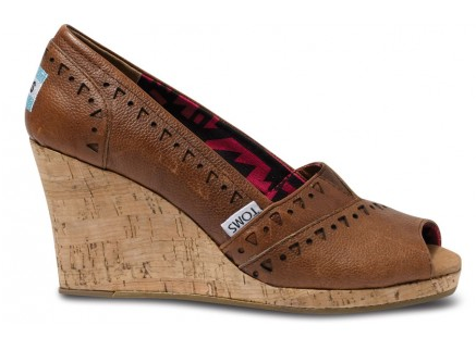 TOMS+ Brown Rhyder Women's Wedges