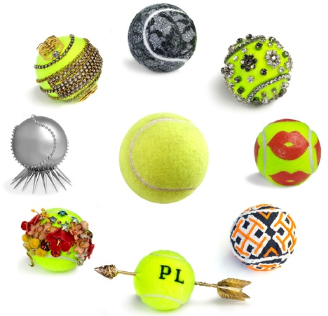 Vogue commissions designers to create customized tennis balls in celebration of the U.S. Open