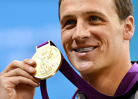 Ryan Lochte USA grill gold medal clothing line