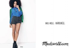 The fashionable marriage of two cool little sisters: Solange Knowles models for Madewell