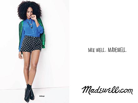 Solange Knowles models for Madewell Fall 2012 campaign