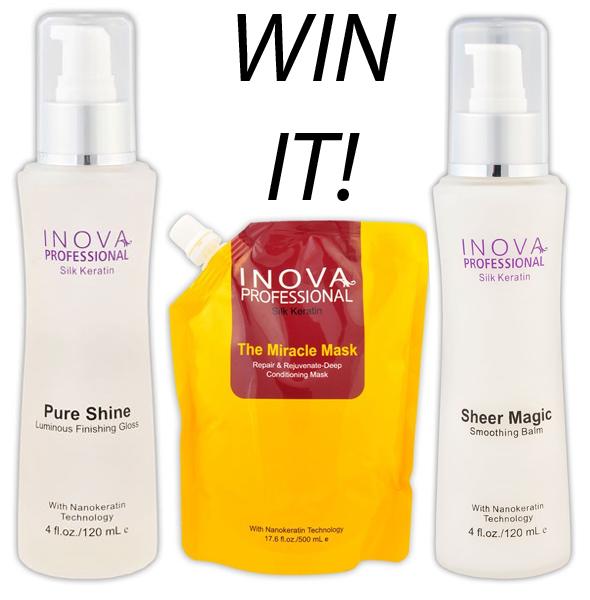 WIN IT-Inova Products Silk Keratin Pure Shine, Silk Keratin Sheer Magic and Silk Keratin The Miracle Mask