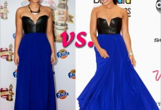 Who rocked it hotter: Demi Lovato vs. Jordin Sparks in a Mason Leather Bustier Dress
