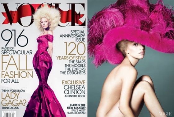 Lady Gaga on Cover of September 2012 Vogue