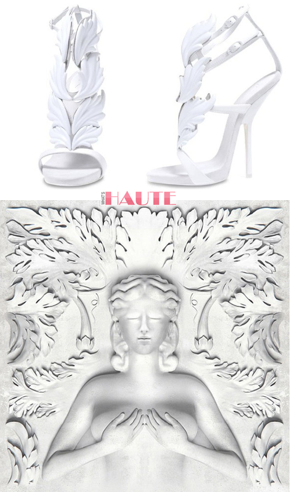 Kanye West Giuseppe Zanotti shoes for G.O.O.D. Music Cruel Summer album and cover art
