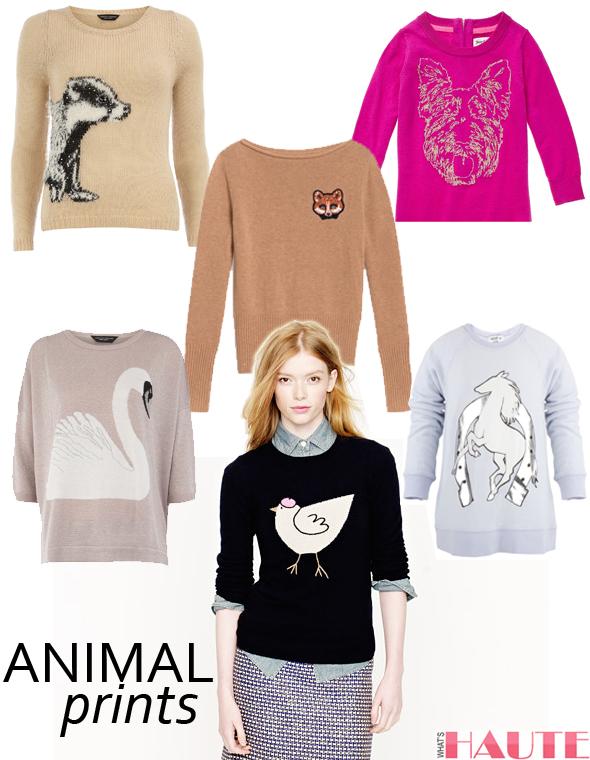 Animal sweaters