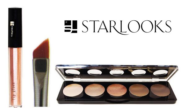 August StarBox: Starlooks Infinity Cream Liner in Sculpture Eye Shadow Palette, #844 Pointed Slant Eyeliner Brush, Lip Gloss in Pink Petal Rose