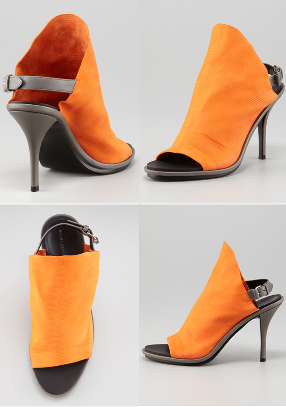 Haute buy: Balenciaga Ribbed Leather Glove Slingbacks